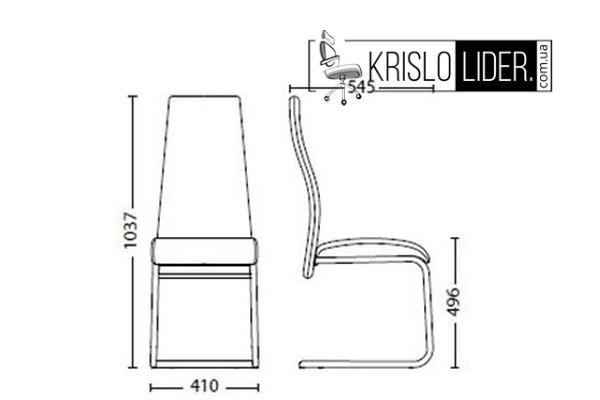 Крісло Tailer CF chrome - 3