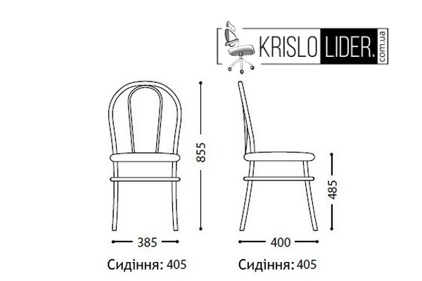 Крісло Tulipan chrome - 4