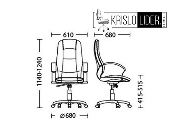 Крісло Modus steel chrome Tilt - 2