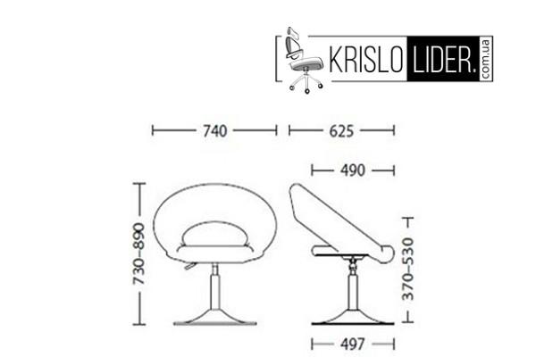 Крісло Rose XL chrome - 2