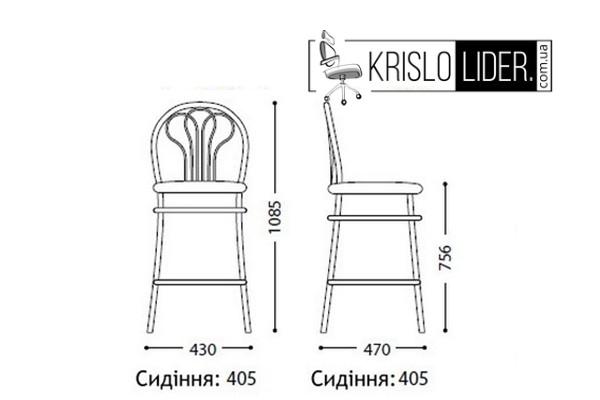 Крісло Venus hoker chrome - 1