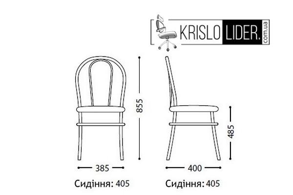 Крісло Tulipan black - 1