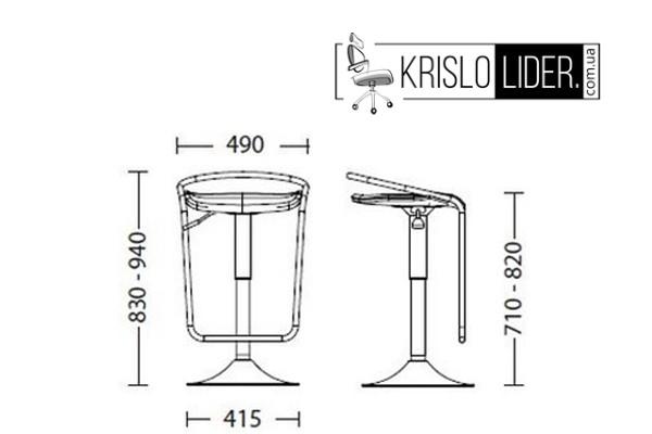 Крісло Campari hoker chrome - 3